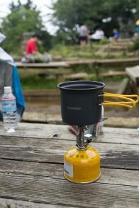 山頂でお湯を沸かしてカップラーメン